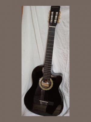 guitarra electroacústica paganini negra