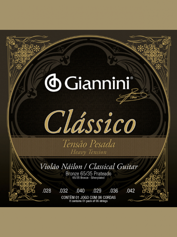 Cuerdas De Nylon Clásico Giannini Tensión Alta
