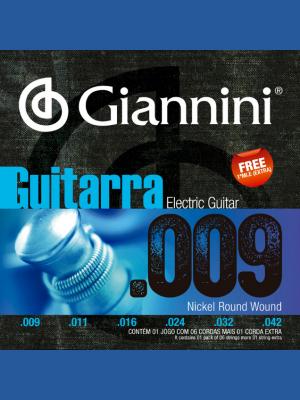 Cuerdas Para Guitarra Eléctrica 009 Giannini