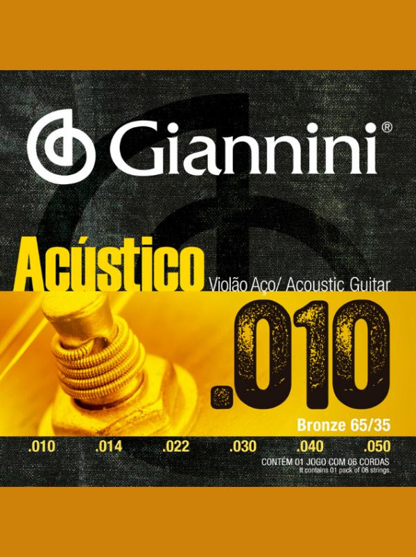 cuerdas de metal acustico giannini 010