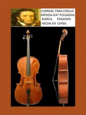 cuerdas para cello 4/4 paganini