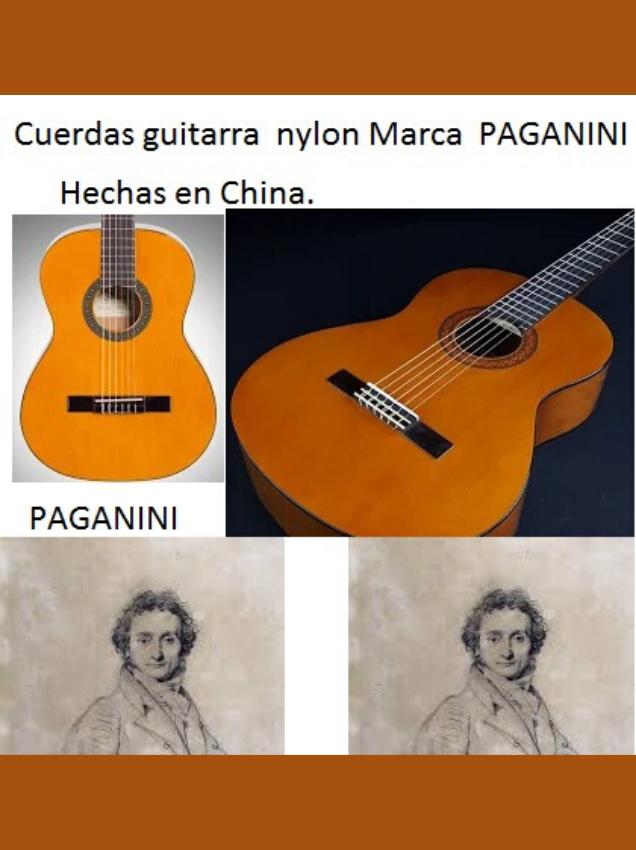 cuerdas de nylon para guitarra paganini