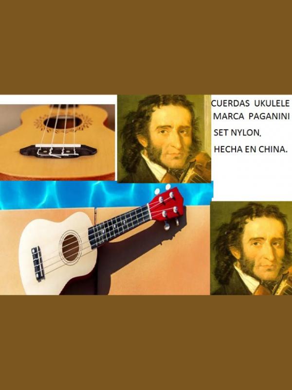cuerdas de nylon para ukulele tenor marca paganini