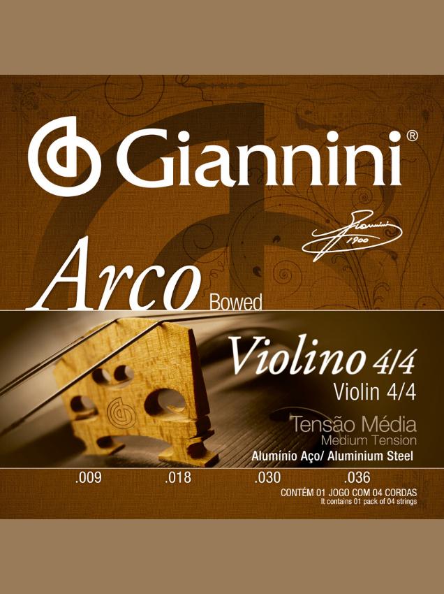 cuerdas para violín 4/4 giannini